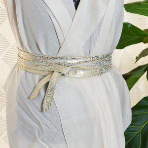 ADA Wrap Belt Metallic Snake Print